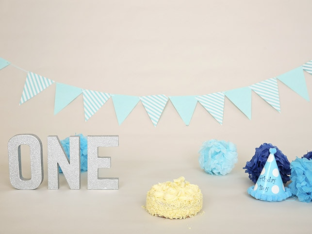 Blue Cake Smash Props