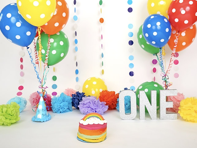 Multi Coloured Cake Smash Props