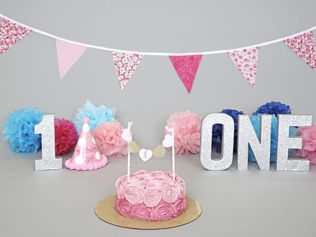 Pink Cake Smash Props